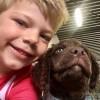 Wikel en Gyon selfie: één poot en één hand op één buik