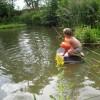 Milou kan nog niet zwemmen