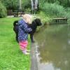 wormen aan de vissen voeren